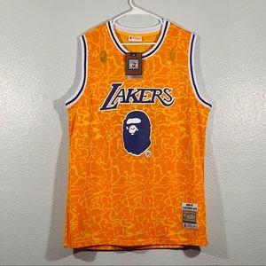 BAPE x Mitchell & Ness XL LA Lakers Jersey